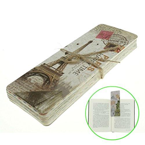 AKOAK 30 Piece Set Vintage European Scenes Retro Old Travel Postcard Bookmarks,Note Pads,Memo Pads