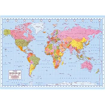 Amazon political world map giant poster print 55x39 giant political world map giant poster print 55x39 giant poster printa2yzh2pvpqaiyn gumiabroncs Gallery