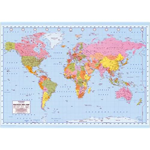 Large world map poster amazon political world map giant poster print 55x39 giant poster printa2yzh2pvpqaiyn gumiabroncs Image collections