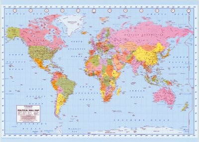 Political World Map Giant Poster Print, Giant PrintA2YZH2PVPQAIYN
