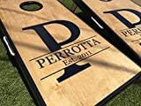 Initial and Name Custom Cornhole Board Set