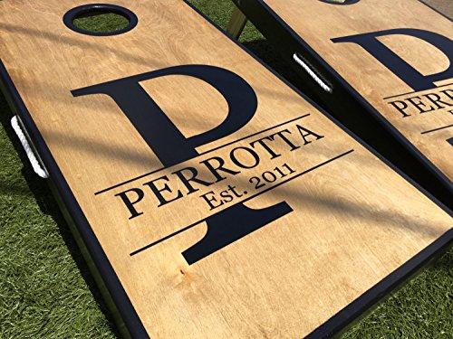Initial and Name Custom Cornhole Board Set by West Georgia Cornhole
