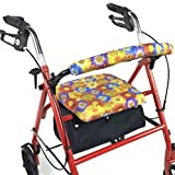 Crutcheze Daisy Bouquet Rollator Walker Seat and Backrest Covers Designer Fashion Accessories Made in USA