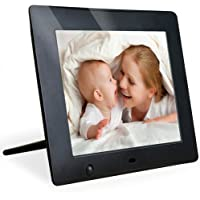 EZDigi - New Hi-Res Digital Photo Frame with Motion Sensor … (8 Inch, Black)