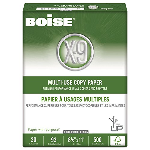 Cascades - X-9 Copy 3-Hole Punched Paper, 92 Bright, 20lb...