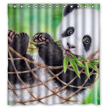 amazon com cute baby panda eat bamboo funny bear animal art design
