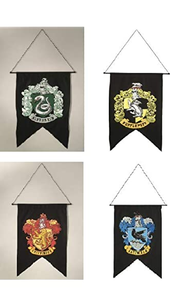 ANY SIZE SET OF 4 INDIVIDUAL HOUSE CREST BANNERS HARRY POTTER MOVIE POSTERS