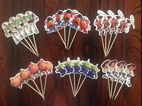 Toy story Buzz lightyear woody Cupcake Toppers Birthday Party Supplies set of 24