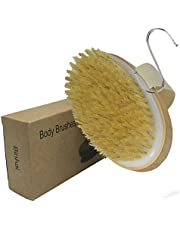 Exfoliating Brush Dry Skin Brushing Bath Body Brushes Natural Bristle Remove Dead Skin And Toxins Cellulite Treatment, Improves Lymphatic Functions, Exfoliates, Skin's