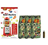 Jarosa's Gift Set of Jelly Belly Mini Bean Dispenser Machine & Camo Jelly Beans Gift Bag - 3 Bags (FILLS THE MACHINE!) with a Jarosa Bee Organic Chocolate Bliss Lip Balm