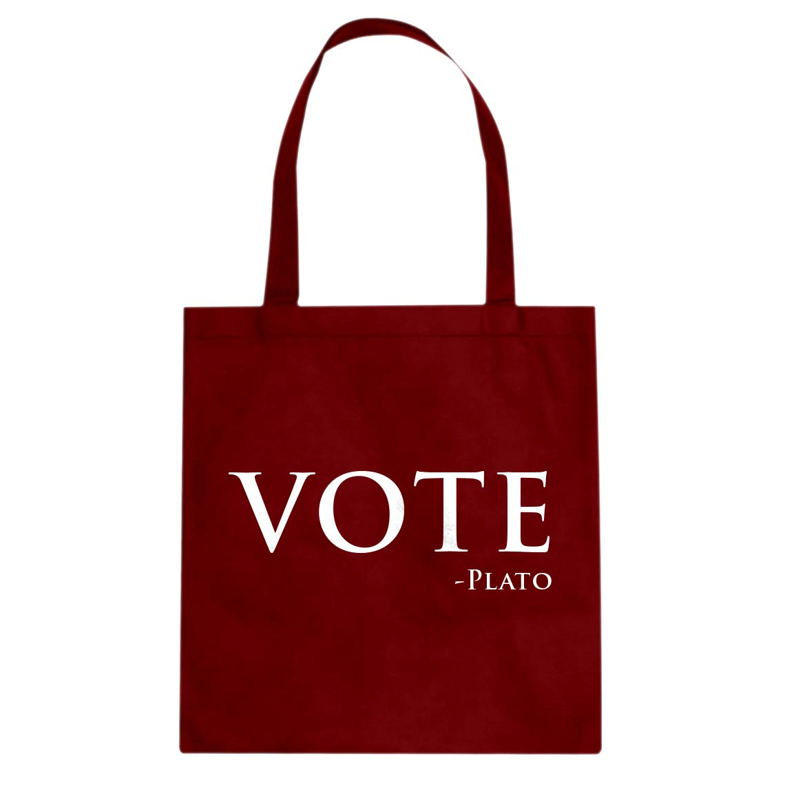 Indica Plateau Vote Plato Cotton Canvas Tote Bag