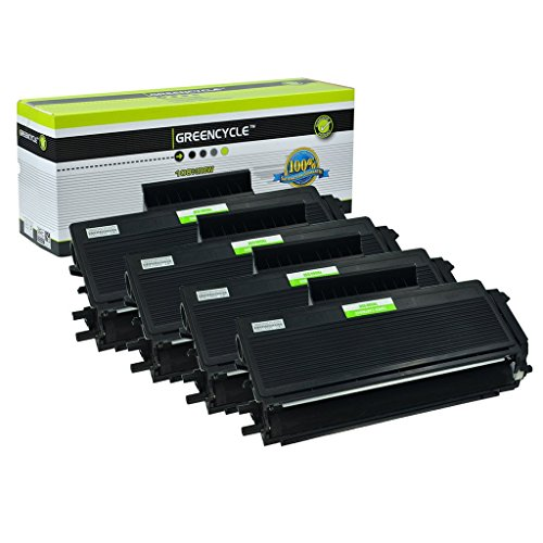 GREENCYCLE 4 Pack TN650 TN-650 Black Toner Cartridge Compatible for Brother HL-5370DW HL-5370DWT MFC-8690DW Laser Printer (4 Pack, TN650) ()