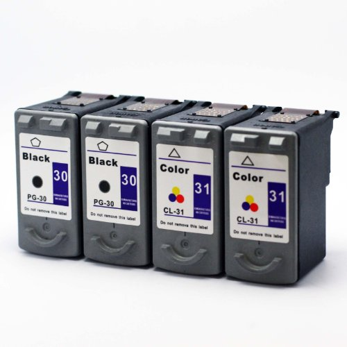 eStoreimport Compatible Ink Cartridge Replacement For 4 packs Canon PG-30 CL-31 ink cartridge Combo PG30 PG31 Black and Color, Office Central