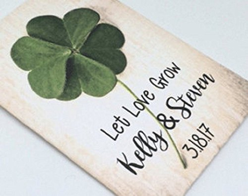 Personalized wedding seed packets with Irish theme (set of 50)