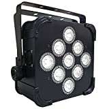 LED Up Light - 16 Hour LED Battery Powered Wireless DMX - 9x5w RGBAW - Weddings - Stage Light - Dj Light