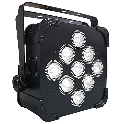 LED Up Light - 16 Hour LED Battery Powered Wireless DMX - 9x5w RGBAW - Weddings - Stage Light - Dj Light by Adkins Professional lighting