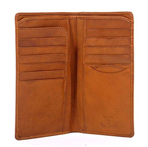 Tony Perotti Italian Leather Bifold Checkbook Breast Pocket Wallet, Honey Bi-Fold Wallet, Honey (Secretary Honey Desk)
