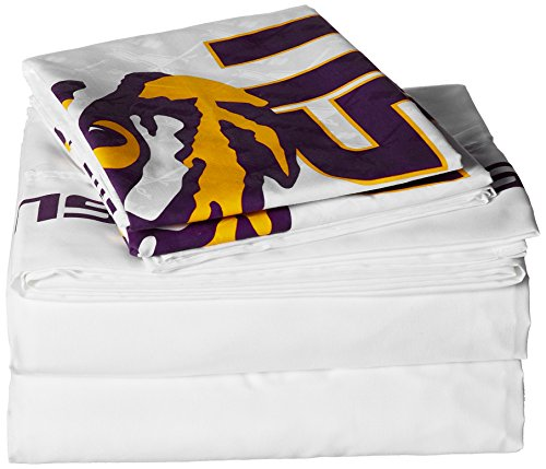 Sports Coverage NCAA Louisiana State Fightin Tigers Micro Fiber Sheet Set (Twin) - Sheets Twin Sports Coverage