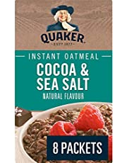 QUAKER Cocoa and Sea Salt Flavour Instant Oatmeal (8 Packets x 42 g), 336 g