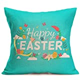Pgojuni Happy Halloween Accent Flax Pillowcase Decoration Throw Pillow Cover Cushion Cover Pillow Case for Sofa/Couch 1pc (I)