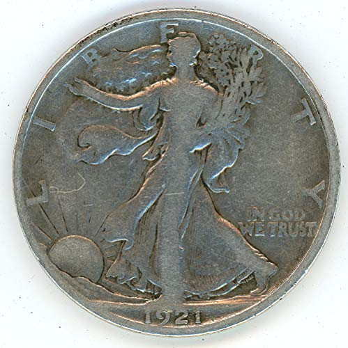 1921 S Walking Liberty Half Dollar Obverse Mint Mark 50C Very ()