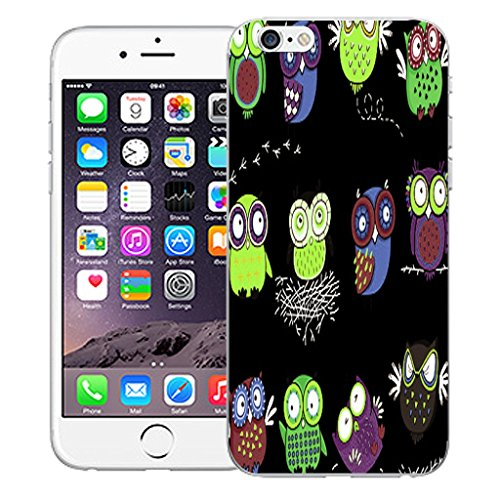 """Mobile Case Mate iPhone 6 4.7"""" Silicone Coque couverture case cover Pare-chocs + STYLET - Owl Nest pattern (SILICON)"""