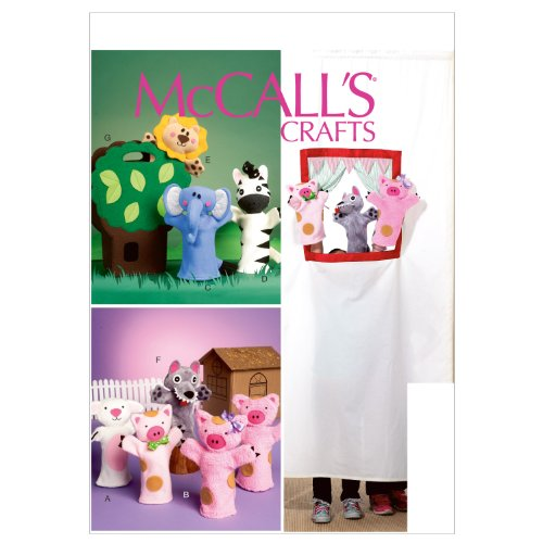 McCall Patterns M6671 Puppets and Carry Bag Sewing Template -