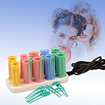 inkint Electric Hair Rollers with Instant Heat Charging Base Heat Ceramic Hot-air Hair Roller with 2 Different Sizes for Big& Small Curl 10 Pcs Hair Styling Rollers Set with Charging Base