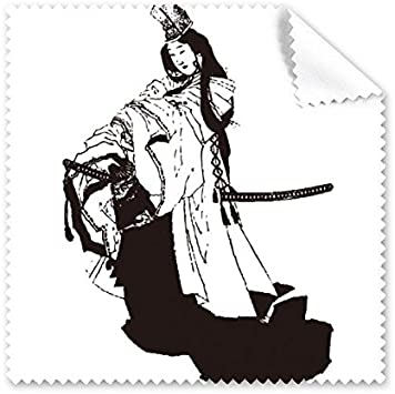 Diythinker Japon Culture Traditionnelle Noire Kimono Femme Epee De Samourai Ligne Dessin Croquis Art Style Japonais Illustration Lunettes Tissu Chiffon De Nettoyage Telephone Ecran Nettoyant 5pcs N Amazon Fr High Tech