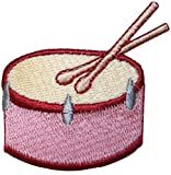 ID #3163 Snare Side Drum Percussion Musical Instrument Iron On Applique Patch