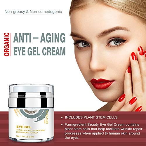 51hUEusUtlL - Wumal Eye Gel Cream for Appearance of Dark Circles, Puffiness, Wrinkles and Bags - Effective Anti Aging Eye Cream for Men and Women