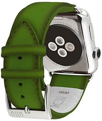 ullu Apple Watch Band for Series 1 & Series 2 in Premium Leather - Lime - UAWS38SSVT93 by ullu (Image #3)