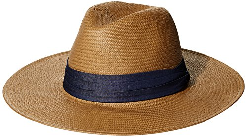 ale by Alessandra Women's Havana Panama Sunhat Packable, Adjustable and UPF Rated, Cognac, One Size