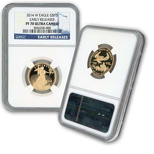2014 W 1/4oz Proof Gold Eagle G$10 PF70UCAM NGC Early Releases ()