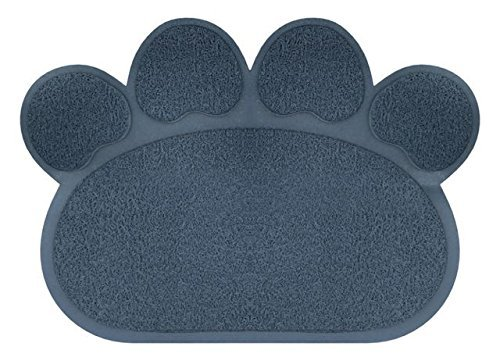 Luxe Pet Food and Litter Mat 23.5'' x 18'' Paw Shaped by The Pampered Paw by LuxePets