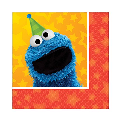 Sesame Street Party Supplies 48 Pack Beverage Napkins AMZ ONLY