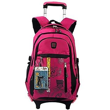 Amazon.com: leqige separable niños trolley mochila escolar ...