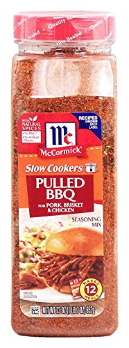McCormick Slow Cookers pulled bbq for pork, brisket & chicken seasoning mix, makes 12 meals, 23-oz., plastic shaker (Pack of 1)