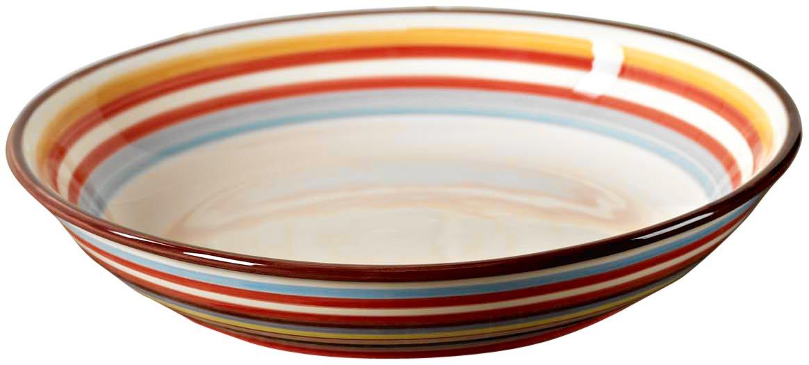 Tabletop Lifestyles 13-1/4-Inch Serve Bowl, Sedona Stripe