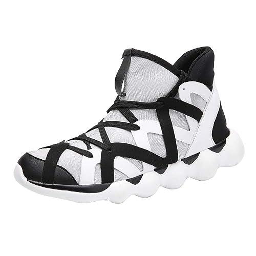 Logobeing Zapatillas Deporte Hombre Sneakers Outlet Zapatillas Seguridad Trendy Weave Transpirable con Ligeras Zapato Deportivo para