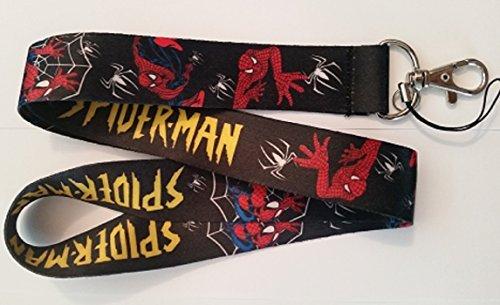 (The Amazing Spiderman Lanyard Keychain Set (Black))