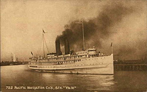 Pacific Navigation Co.'s Str. Yale Steamers Original Vintage Postcard