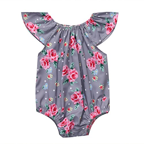 Newborn Lovely Floral Sleeveless Bodysuit