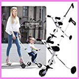 Portable Folding Lightweight Baby Toddle Kids Child Tricycle Stroller Travel Pram Buggy Pushchair 1~7 Years old
