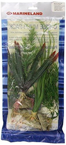 - MarineLand Multi-Pack Assorted Silk Plants C3, 4, Small (ML90549)