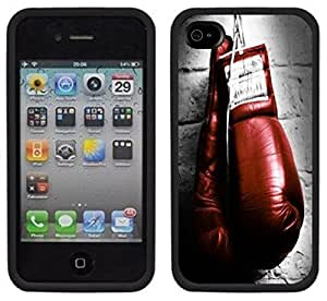 New Style Boxing Gloves Handmade iPhone 4 4S Black Case