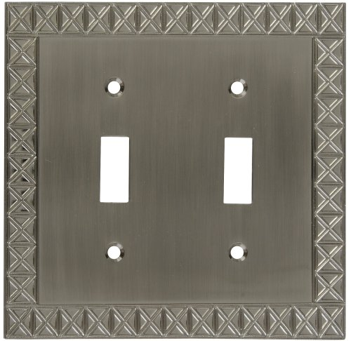 National Hardware S803-312 V8045 Pinnacle Double Switch plates in Nickel (Design Double Switchplate)