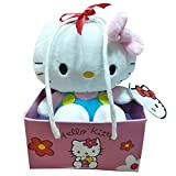 Hello Kitty Plush, Light Blue with Gift Paper Bag, Pink (16cm)