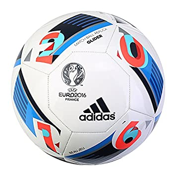 a88d789482a30 Adidas EURO 2016 France MATCH BALL REPLICA Glider Soccer Football AC5419  Size 5  Amazon.co.uk  Sports   Outdoors