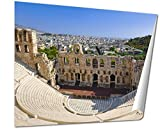 Ashley Giclee The Odeon Theatre At Athens Greece View From Acropolis wall art poster print for bedroom, ready to frame, 16x20 Print